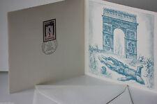 DOCUMENT PREMIER JOUR - 17 x 17 - FLAMME DE L'ARC DE TRIOMPHE - 1973 - N° 107