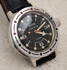 Reloj Militar Ruso Vostok diver anfibio CCCP URSS Soviética Boctok década de 1980