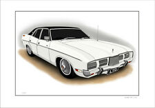 FORD  73'  76'  ZG  P5  LTD  351 V8   SEDAN   LIMITED EDITION CAR PRINT  DRAWING