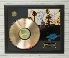 """Eagles Framed wood Reproduction Signature Lp Record Display. """"M4"""""""
