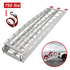 7.5' Heavy Duty Aluminum Folding Loading Ramp Motorcycle Arched Truck ATV UTV