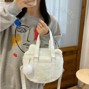 Women Messenger Shoulder Bag Plush Crossbag Lolita Handbag Cross Body Bag