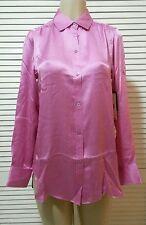 NEW! Rachel Roy Roll Tab Button Down Silk Blouse Size 2 Retail $325.00