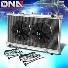 "FOR 91-99 SENTRA SE/SE-R B13/B14 SR20DE 2-ROW CORE ALUMINUM RADIATOR+10""SLIM FAN"
