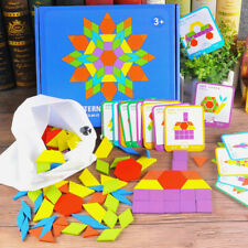 Different Color Shape Wooden Blocks Puzzle Montessori Educational Kids Toys Gift