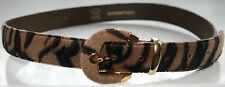 "TIGER FAUX FUR 1980 True Vintage Belt French 30""-34""/85 Beige/Brown/Black Animal"