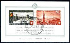 SCHWEIZ 1942 BLOCK7 gestempelt TADELLOS + ORIGINALGUMMI 300€(D4590