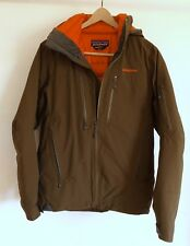 Patagonia Primo Down Gore-Tex Jacket - Men's XS Dark Green/Brown Snowboard