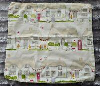 Dunelm 100% Cotton cottages pattern cushion Cover