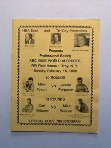 Mike Tyson vs Jesse Ferguson 1986 Official Program; Tyson's 18th Fight & 18th KO
