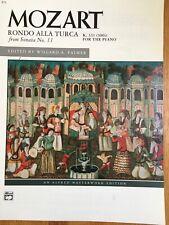 Sheet Music Mozart. Rondo Alla Turca K. 331 For Piano