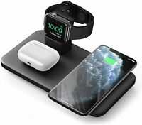 Seneo 3 in 1 Wireless Charger Fast Charging Pad For iPhone iWatch Pods Earbud