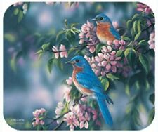 MOUSE PAD-Blue Birds-Printed in U.S.A.--Polyester/Neoprene  **Beautiful**