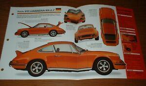 ★★1973 PORSCHE 911 CARRERA RS ORIGINAL IMP BROCHURE SPECS INFO 73★★