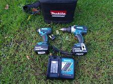 Makita Dtd152 Impact Gun & Dhp458 Combi Drill & x2 18v  5.0ah Batteries Twin Set