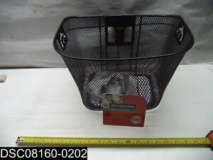SW75718-3 Schwinn Quick Release Black Wire Basket for Bicycle
