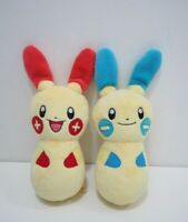 Plusle Minun Set Pokemon Center Pin Bowling Plush 2004 Toy Doll Japan