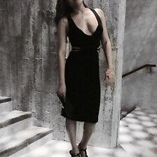 Black Party dress Deep v-neck