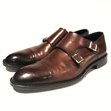 21baece0171 Peter Millar Loafers Brown Leather Mens Size 8.5 Monk Strap