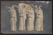 REAL PHOTO Postcard NEW YORK NY  Cora Sauter Brass all woman Quartette 1907?