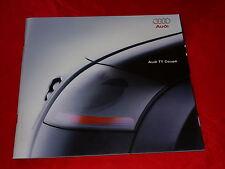 Audi TT 1.8 T + 1.8 t Quattro folleto de octubre de 1998