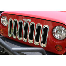 Jeep Wrangler JK 2007-2017 Chrome Grill Grille Inserts Kit 11306.20 Rugged Ridge