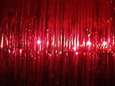Red Tinsel Foil Door Curtains - Make your room into a Fairy Grotto!