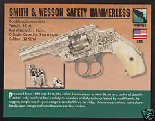 SMITH & WESSON SAFETY HAMMERLESS .32 Revolver Gun Classic Firearms PHOTO CARD