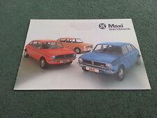 July 1976 Austin MAXI 1500 / 1750 / HL - UK BROCHURE - Publication 3197/A