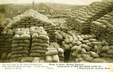 Spokane,Wa. Compare Washington. Wheat in sacks awaiting shipment