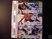 Ottawa Senators 2010 NHL ticket stubs