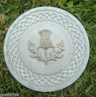Celtic knot thistle mold plaque plastic mould for plaster concrete casting