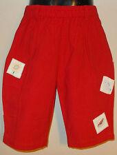New 100% Cotton Red Boys Girls Kids Summer Holiday Shorts Medium 6-8 Years