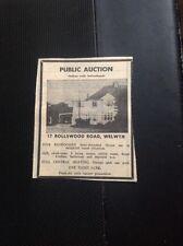 L2-9 Ephemera 1973 Advert House Sale 17 Rollswood Road Welwyn