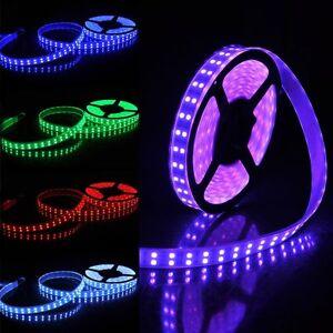 5M 16.4ft 12V SMD RGB 5050 IP67 Waterproof 600 LED Double Row Tube Strip Light