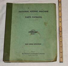 Original Old NCR National Cash Register Adding Machine Manual Parts Catalog 1961