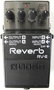 Used Boss RV-6 Digital Reverb Guitar Effects Pedal