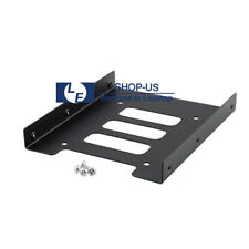 "New Black 2.5"" SSD to 3.5"" Bay Hard Drive HDD Mounting Dock Tray Bracket Adapter"