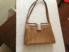 Authentic Eel Skin Blond Handbag Purse Korea