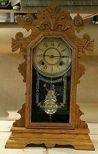 Antique 8-Day Dayton Clock by Ansonia Clock Co w/ Key