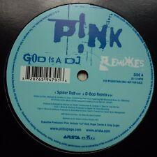 """P!NK God is a DJ (Remixes) - RARE 2003 UK Promo 12"""" Maxi Arista 28765 94791 PINK"""
