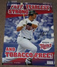 Minnesota Twins Joe Mauer Anti Tobacco Propaganda 22x16 Poster