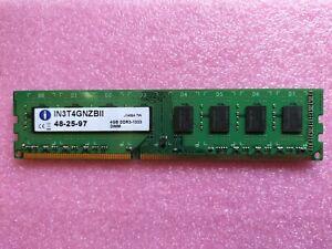 Integral 4GB DDR3 PC3-10600U 1333MHz DIMM 240-pin Desktop Memory (IN3T4GNZBII)