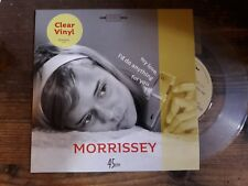 """Morrissey - My love I'd do anything for you - CLEAR Single 7"""" - NEW"""