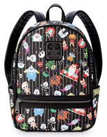 Disney Parks Loungefly Nightmare Before Christmas Backpack Bag Jack Sally - NEW