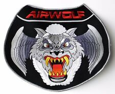 USAF US AIR FORCE LARGE AIRWOLF WOLF EMBROIDERED JACKET PATCH 10 INCHES