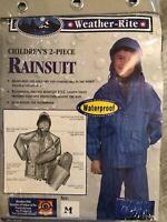 Weather-Rite Children's 2 Piece Waterproof Hooded Rain Suit