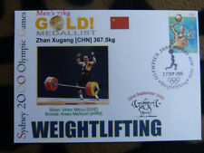 SOUVENIR SYDNEY OLYMPICS GOLD MEDAL COVER - ZHAN XUGANG MENS WEIGHTLIFTING