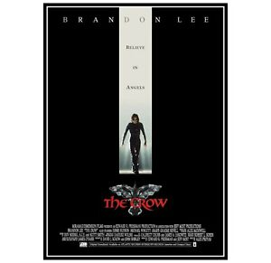 The Crow - Brandon Lee Movie Poster Print and Canvas Print