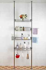 Stainless 4 Layer Premium One Touch Multi Rack Shelf Series for Bathroom DIY